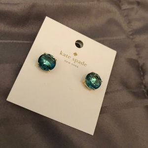 Kate Spade Green Gumdrop Stud Earrings